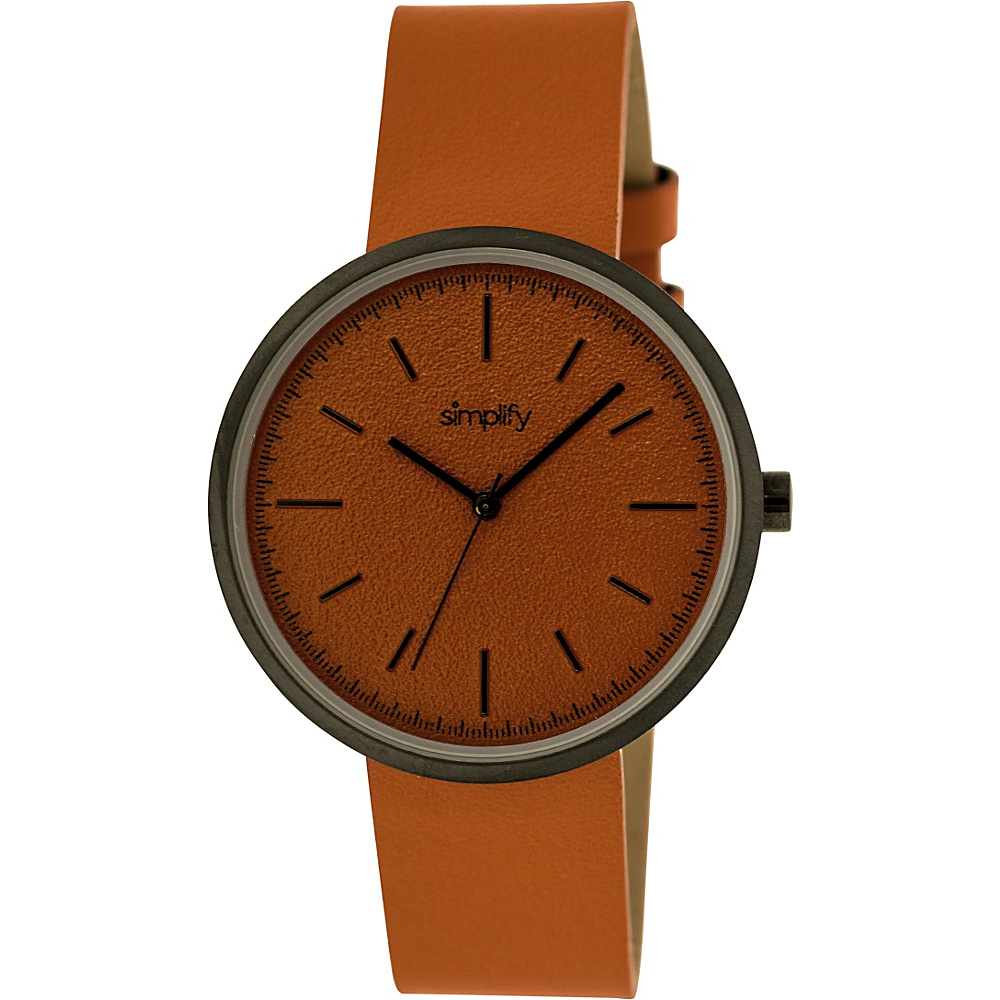 Simplify 3000 Unisex Watch Black Orange Simplify Watches