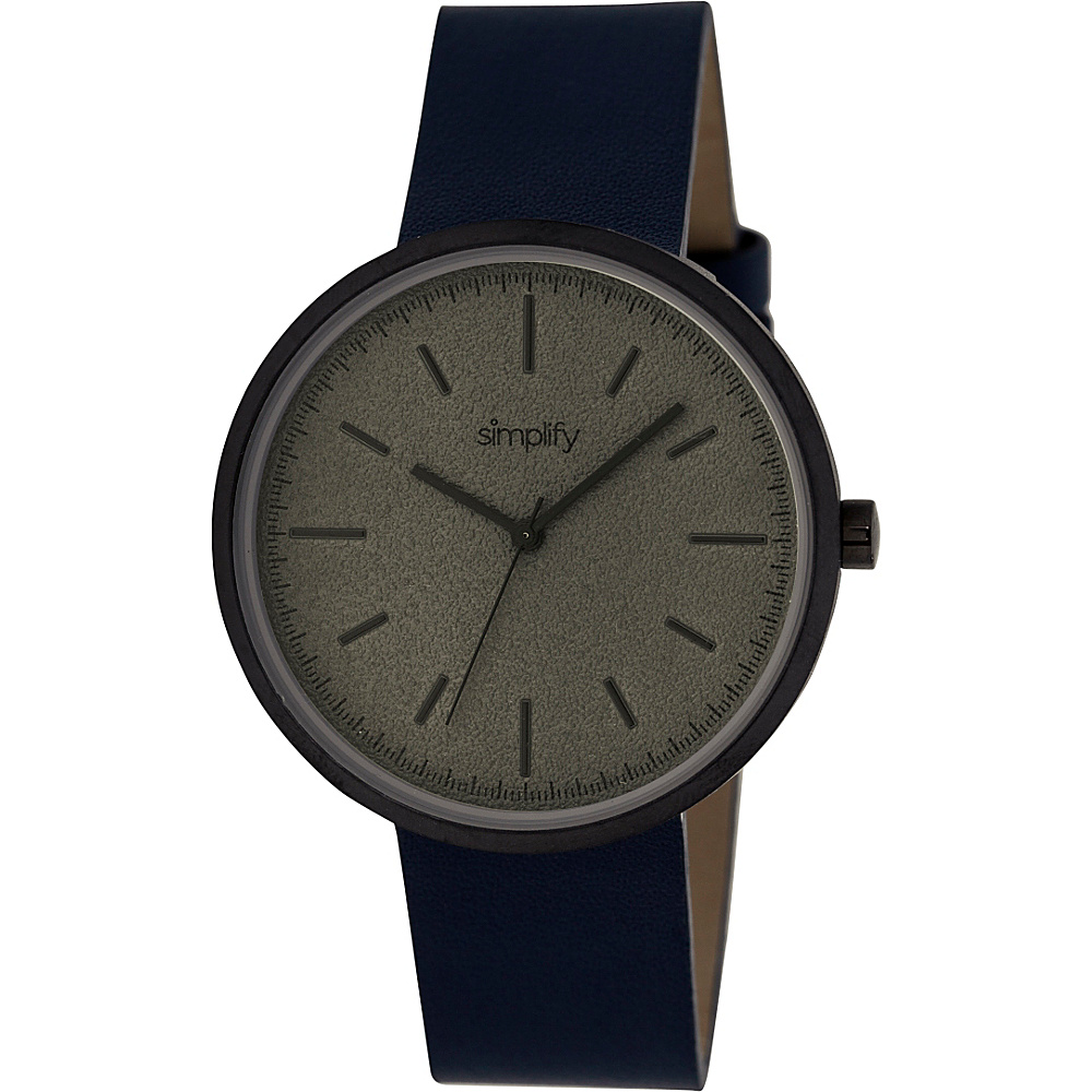 Simplify 3000 Unisex Watch Black Navy Simplify Watches