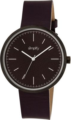 Simplify 3000 Unisex Watch Black/Plum - Simplify Watches