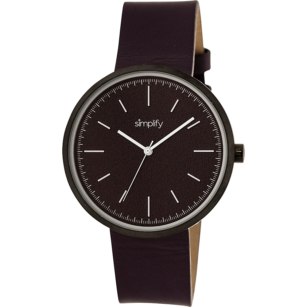 Simplify 3000 Unisex Watch Black Plum Simplify Watches