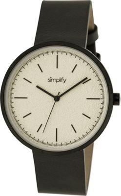 Simplify 3000 Unisex Watch Black/Silver - Simplify Watches