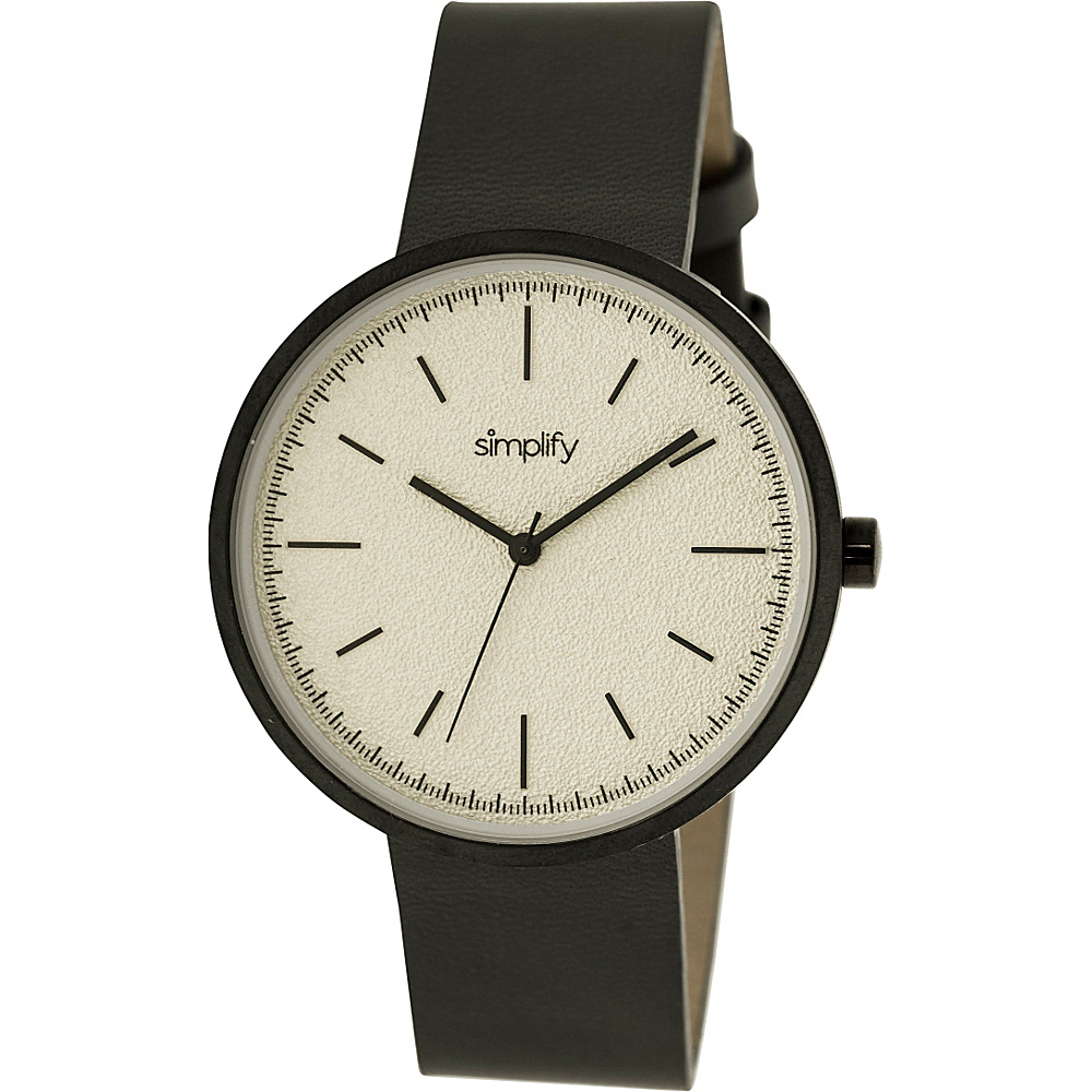 Simplify 3000 Unisex Watch Black Silver Simplify Watches