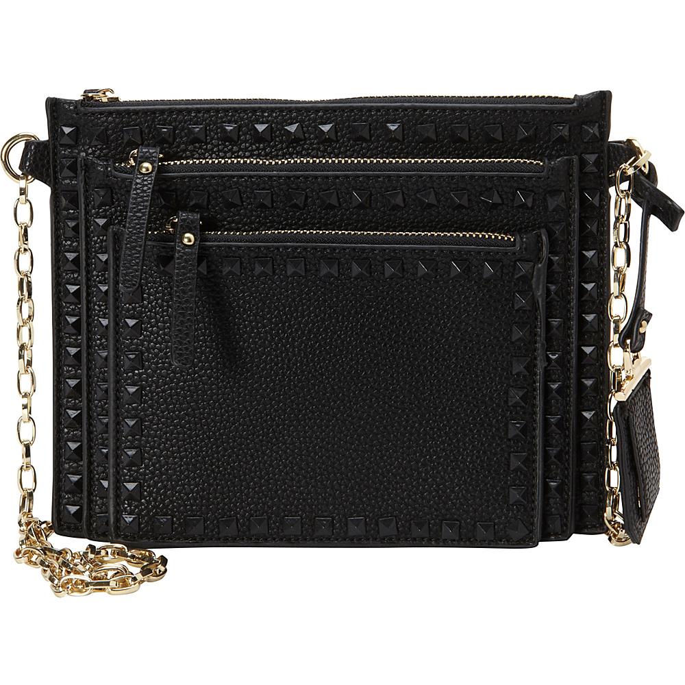 La Diva Perri Crossbody Black La Diva Manmade Handbags