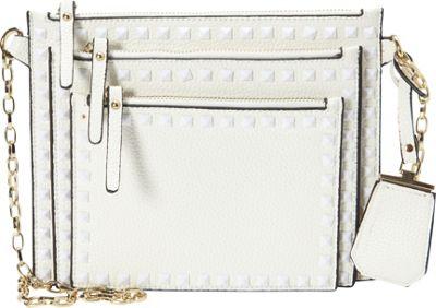 La Diva Perri Crossbody White - La Diva Manmade Handbags