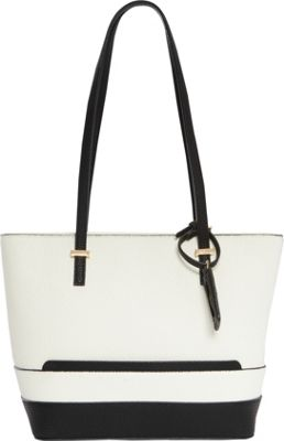 Hush Puppies Frisante Tote White/Black - Hush Puppies Manmade Handbags