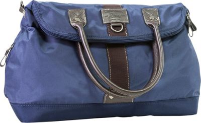 GH Bass & CO Luggage McKinley Flap Over Tote Bag Navy - GH Bass & CO Luggage Rolling Duffels