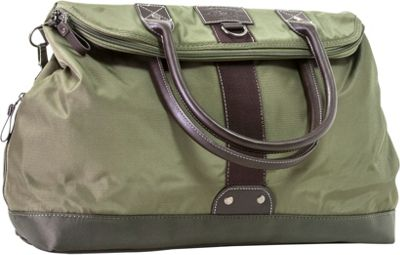 GH Bass & CO Luggage McKinley Flap Over Tote Bag Olive - GH Bass & CO Luggage Rolling Duffels