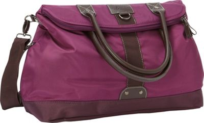 GH Bass & CO Luggage McKinley Flap Over Tote Bag Purple - GH Bass & CO Luggage Rolling Duffels