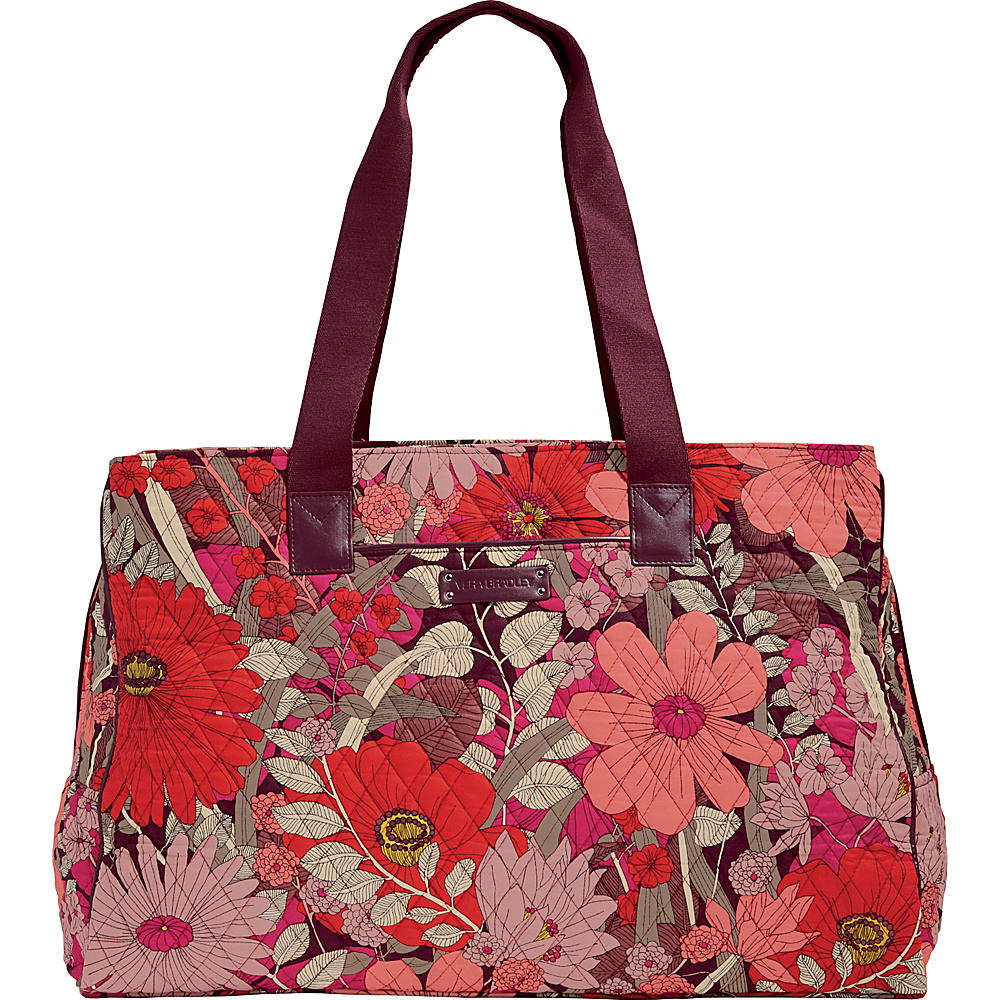 Vera Bradley Triple Compartment Travel Bag - Retired Prints Bohemian Blooms with Claret - Vera Bradley Fabric Handbags - Handbags, Fabric Handbags