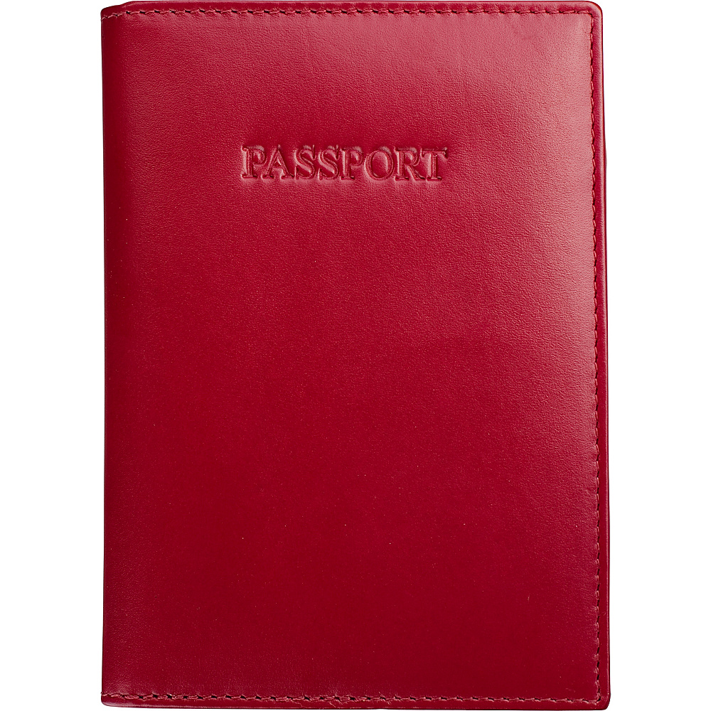 Visconti Soft Leather Secure RFID Blocking Passport Cover Wallet Red Visconti Travel Wallets