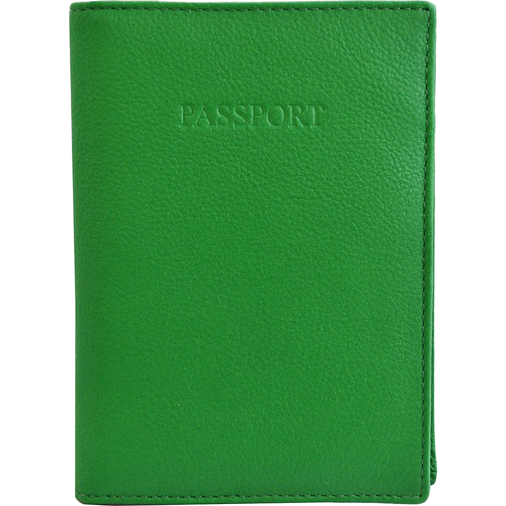 Visconti Soft Leather Secure RFID Blocking Passport Cover Wallet Green Visconti Travel Wallets