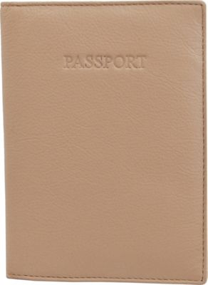 Visconti Soft Leather Secure RFID Blocking Passport Cover Wallet Sand - Visconti Travel Wallets