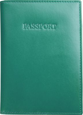 Visconti Soft Leather Secure RFID Blocking Passport Cover Wallet Aqua - Visconti Travel Wallets