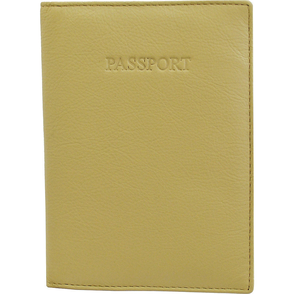 Visconti Soft Leather Secure RFID Blocking Passport Cover Wallet Cream Visconti Travel Wallets