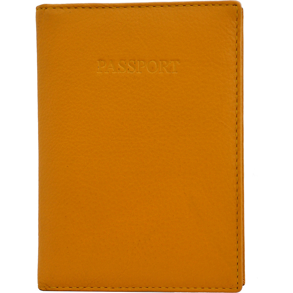 Visconti Soft Leather Secure RFID Blocking Passport Cover Wallet Mustard Visconti Travel Wallets