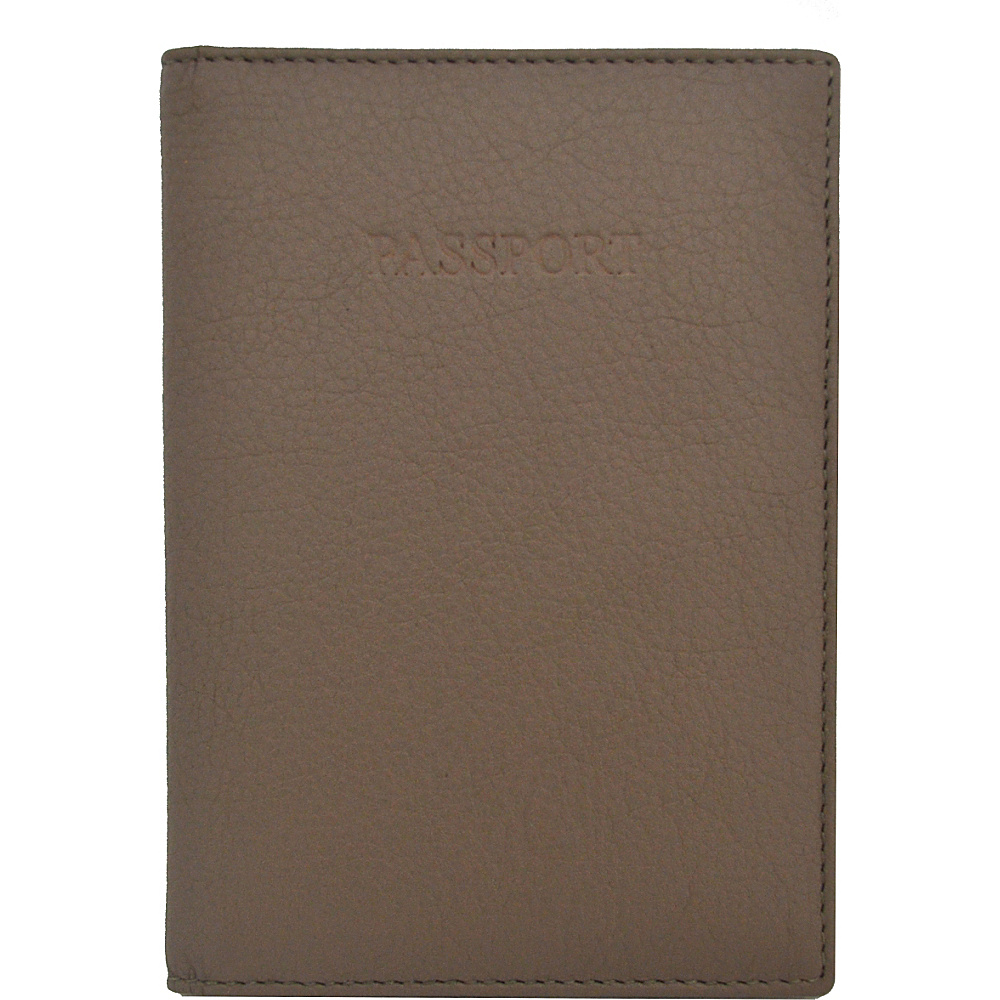 Visconti Soft Leather Secure RFID Blocking Passport Cover Wallet Taupe Visconti Travel Wallets