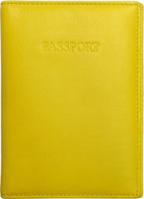 Visconti Soft Leather Secure RFID Blocking Passport Cover Wallet Yellow - Visconti Travel Wallets