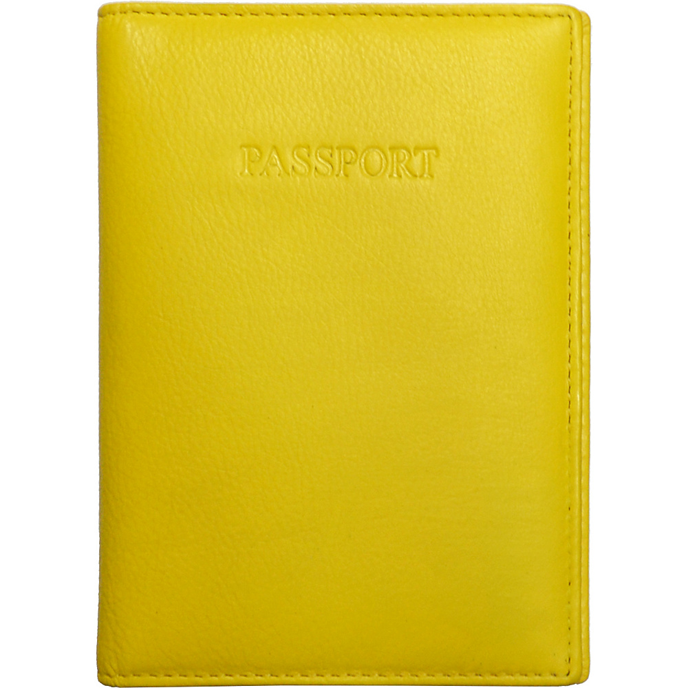 Visconti Soft Leather Secure RFID Blocking Passport Cover Wallet Yellow Visconti Travel Wallets