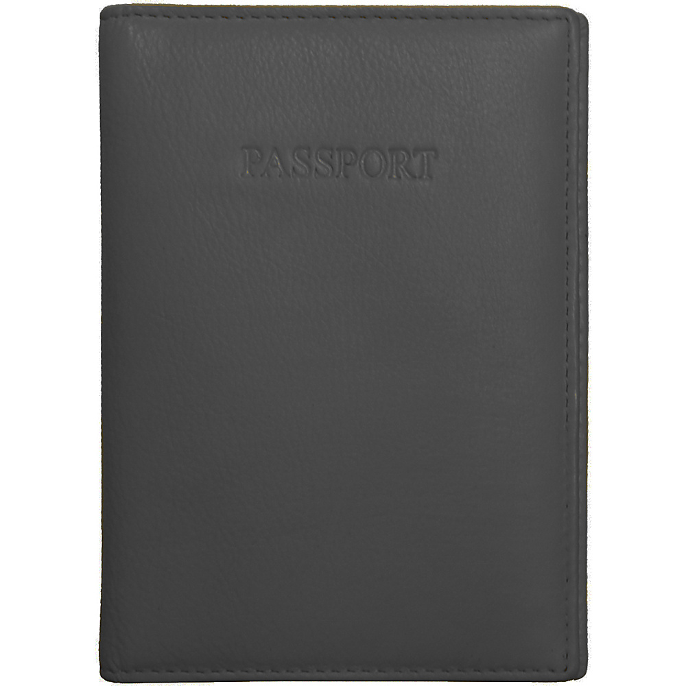 Visconti Soft Leather Secure RFID Blocking Passport Cover Wallet Black Visconti Travel Wallets