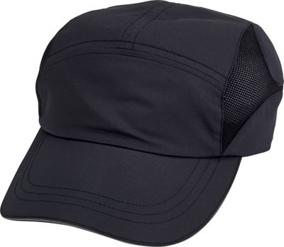 San Diego Hat Running Cap with Vented Mesh Sides One Size  -  Black  -  San Diego Hat Hats / Gloves / Scarves