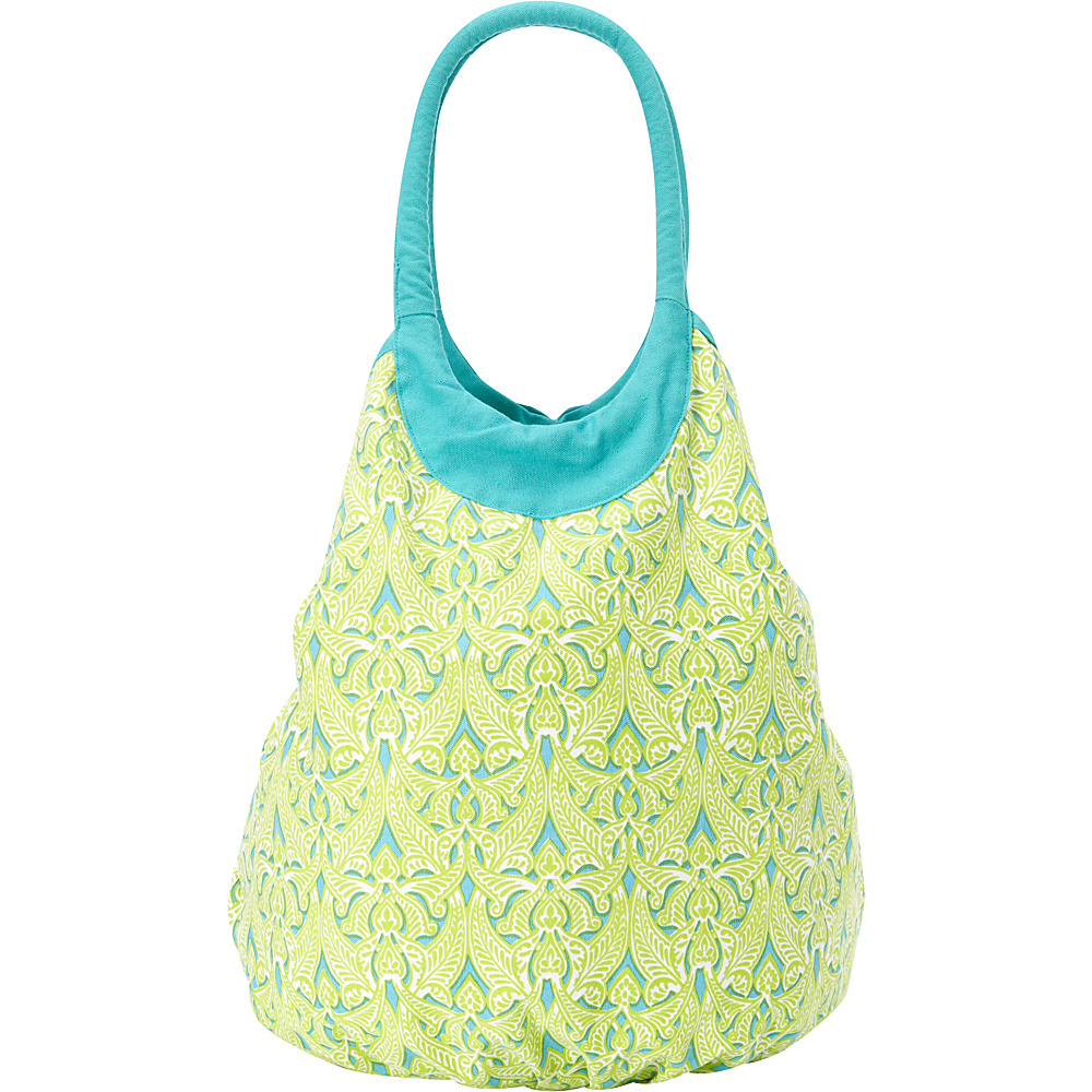 Needham Lane Beach Tote Clare Lime - Needham Lane Fabric Handbags