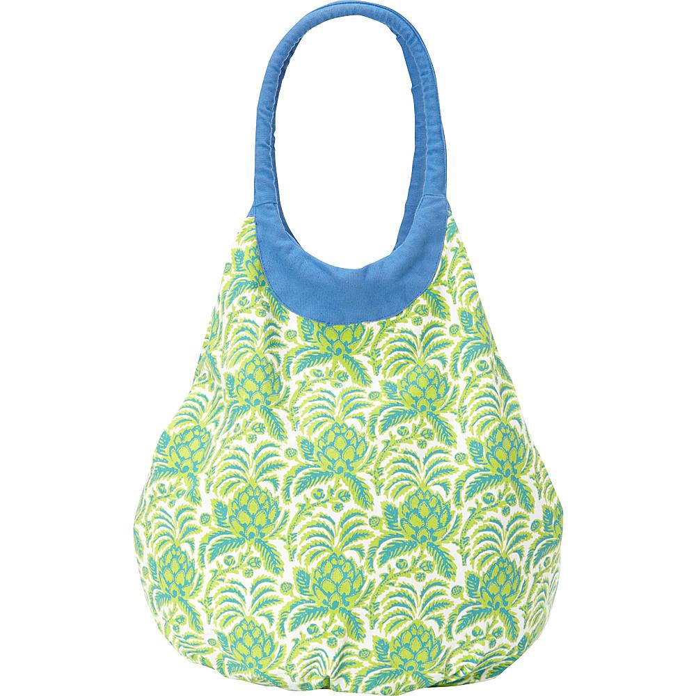 Needham Lane Beach Tote Pineapple Green Needham Lane Fabric Handbags