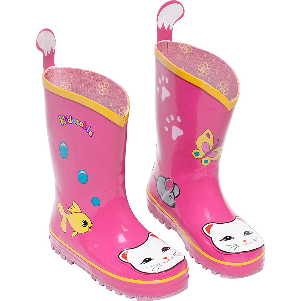 Kidorable Lucky Cat Rain Boots 11 (US Kids) - M (Regular/Medium) - Pink - Kidorable Womens Footwear - Apparel & Footwear, Women's Footwear