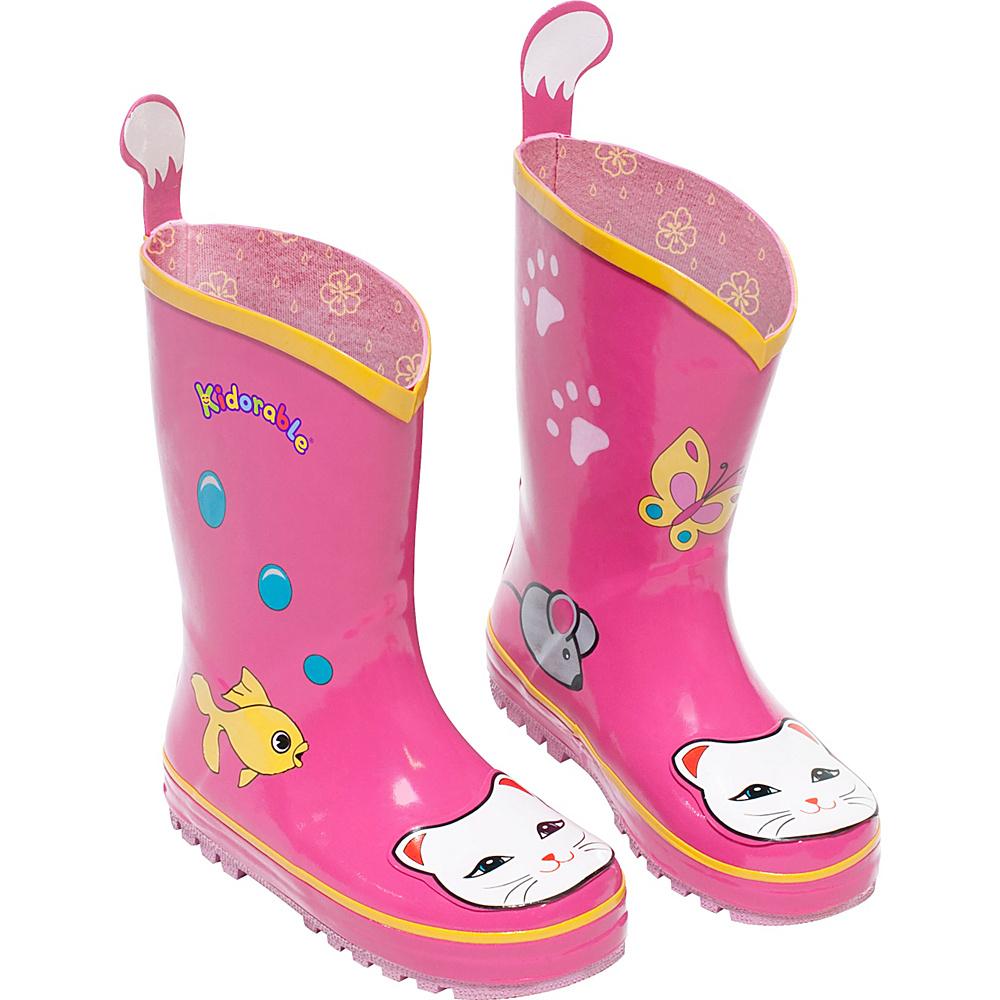 Kidorable Lucky Cat Rain Boots 13 (US Kids) - M (Regular/Medium) - Pink - Kidorable Womens Footwear - Apparel & Footwear, Women's Footwear