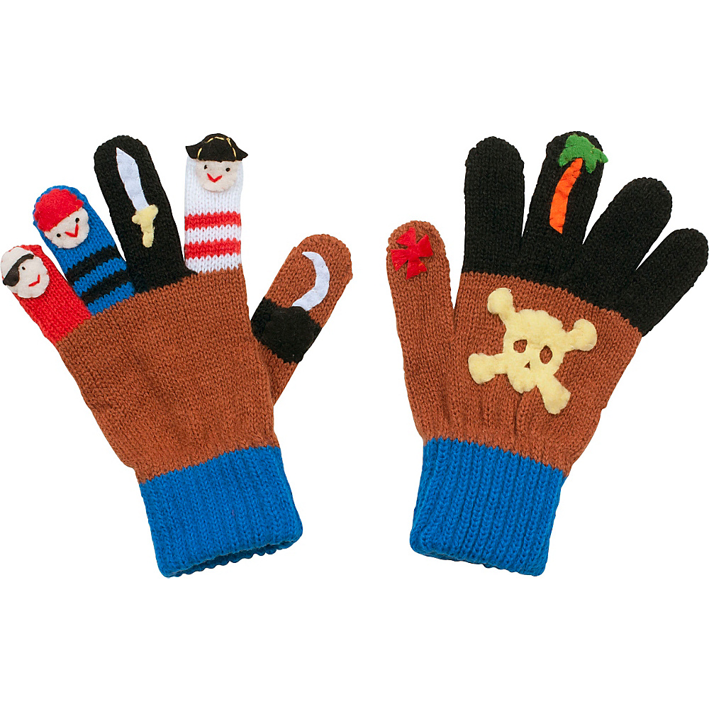 Kidorable Pirate Knit Gloves Brown Medium Kidorable Hats Gloves Scarves