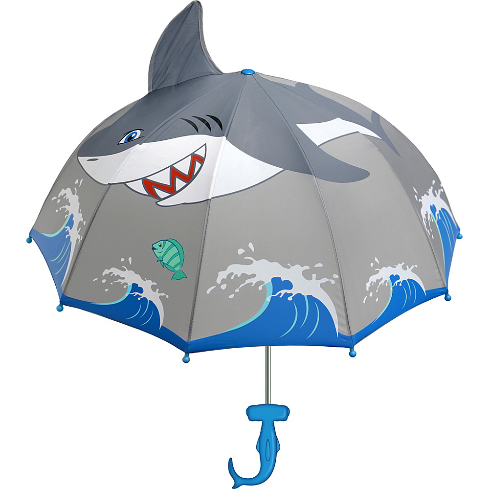 Kidorable Shark Umbrella Grey - One Size - Kidorable Umbrellas and Rain Gear - Travel Accessories, Umbrellas and Rain Gear