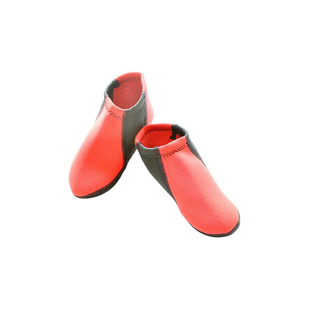 NuFoot Boys Travel Slippers Red Black Stripe Toddler NuFoot Men s Footwear