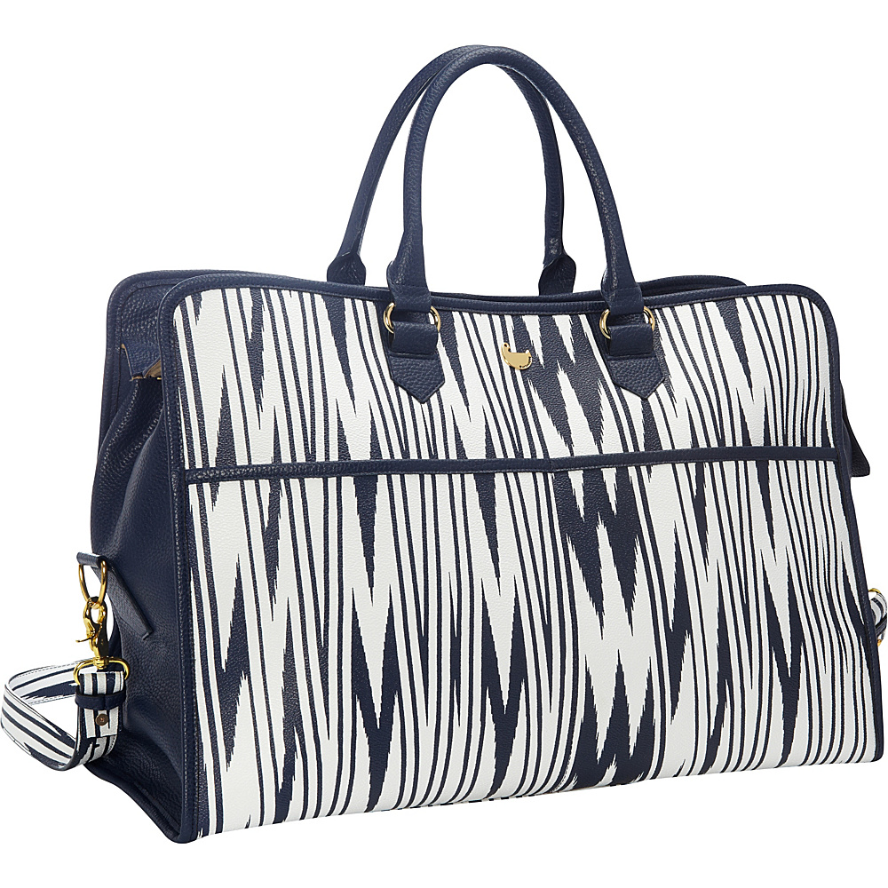 Buxton Chevron Travel Collection Weekender Navy - Buxton Travel Duffels - Duffels, Travel Duffels