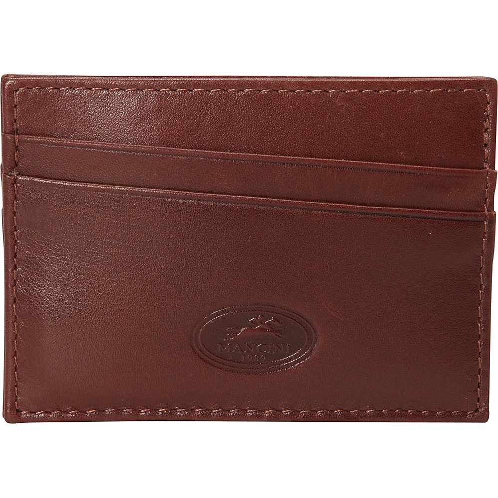 Mancini Leather Goods RFID Secure Credit Card Wallet Cognac - Mancini Leather Goods Men's Wallets