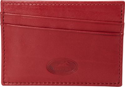 Mancini Leather Goods RFID Secure Credit Card Wallet Red - Mancini Leather Goods Men's Wallets