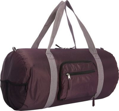 Sacs Collection by Annette Ferber Duffster 2 Piece Set- Full-Size Collapsible Duffel Purple Pinstripe - Sacs Collection by Annette Ferber Travel Duffels