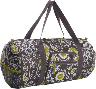 Sacs Collection by Annette Ferber Sacs Collection by Annette Ferber Duffster 2 Piece Set- Full-Size Collapsible Duffel Taupe Irish Scroll - Sacs Collection by Annette Ferber Travel Duffels