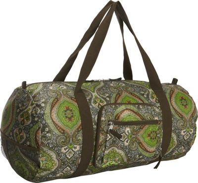Sacs Collection by Annette Ferber Sacs Collection by Annette Ferber Duffster 2 Piece Set- Full-Size Collapsible Duffel Green Sundance Forest - Sacs Collection by Annette Ferber Travel Duffels