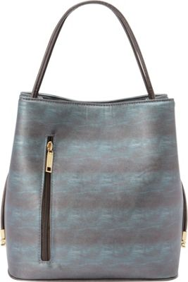 Samoe Classic Convertible Handbag Cyan Sunset/ Bronze Handle Classic - Samoe Manmade Handbags