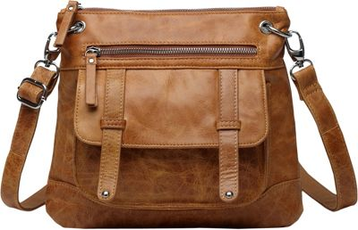 Vicenzo Leather Ella Distressed Leather Crossbody / Handbag Brown - Vicenzo Leather Leather Handbags