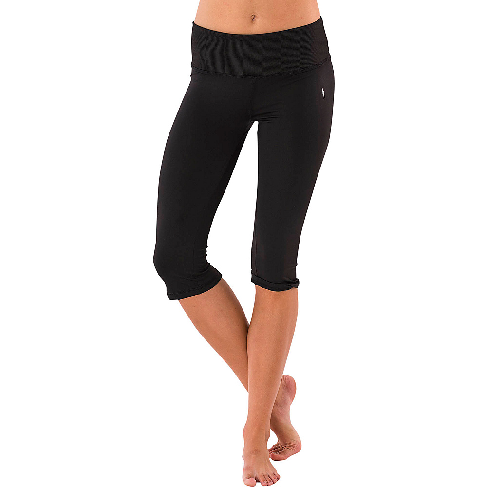 Electric Yoga Shiny Capri L Black Electric Yoga Women s Apparel