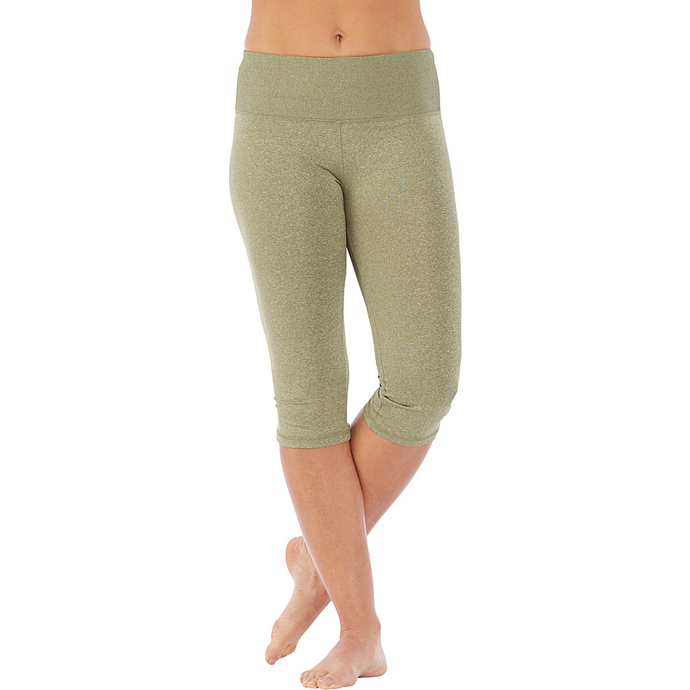 Electric Yoga Shiny Capri L Green Electric Yoga Women s Apparel