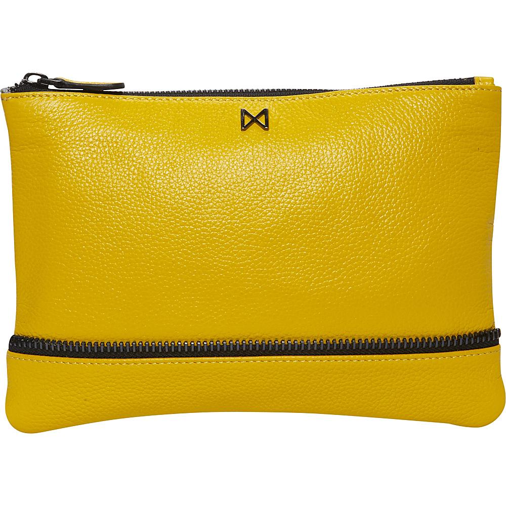 MOFE Sage Pebble Leather Clutch Yellow MOFE Leather Handbags
