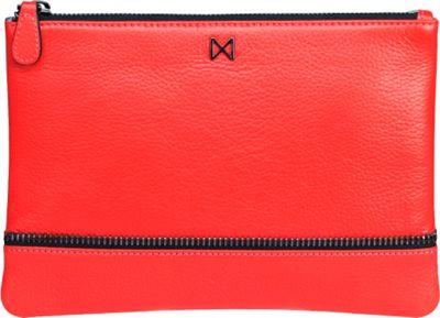 MOFE Sage Pebble Leather Clutch Tomato - MOFE Leather Handbags
