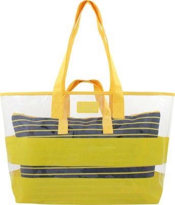 Jacki Design Felicita 2 Piece Tote Bag Set Yellow - Jacki Design Manmade Handbags