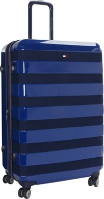 Tommy Hilfiger Luggage Rugby Stripe 28 Upright Hardside Spinner Royal - Tommy Hilfiger Luggage Hardside Checked