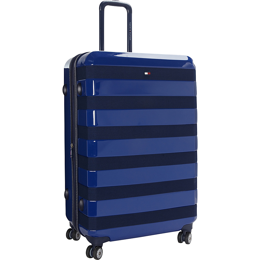 Tommy Hilfiger Luggage Rugby Stripe 28 Upright Hardside Spinner Royal Tommy Hilfiger Luggage Hardside Checked