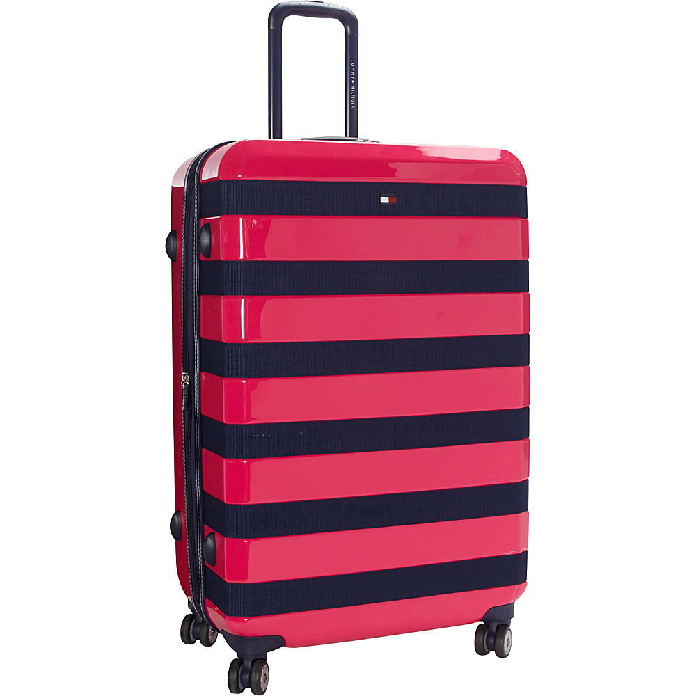 Tommy Hilfiger Luggage Rugby Stripe 28 Upright Hardside Spinner Pink Tommy Hilfiger Luggage Hardside Checked