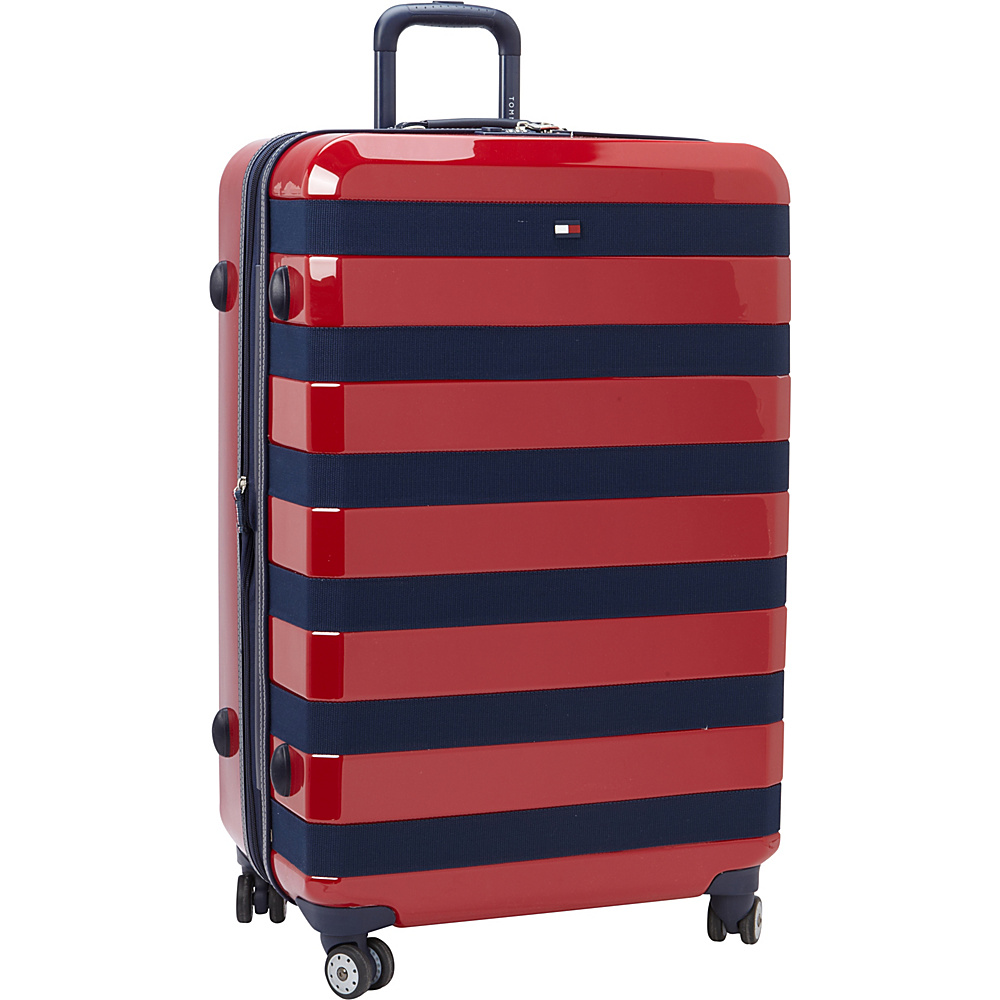 Tommy Hilfiger Luggage Rugby Stripe 28 Upright Hardside Spinner Red Tommy Hilfiger Luggage Hardside Checked