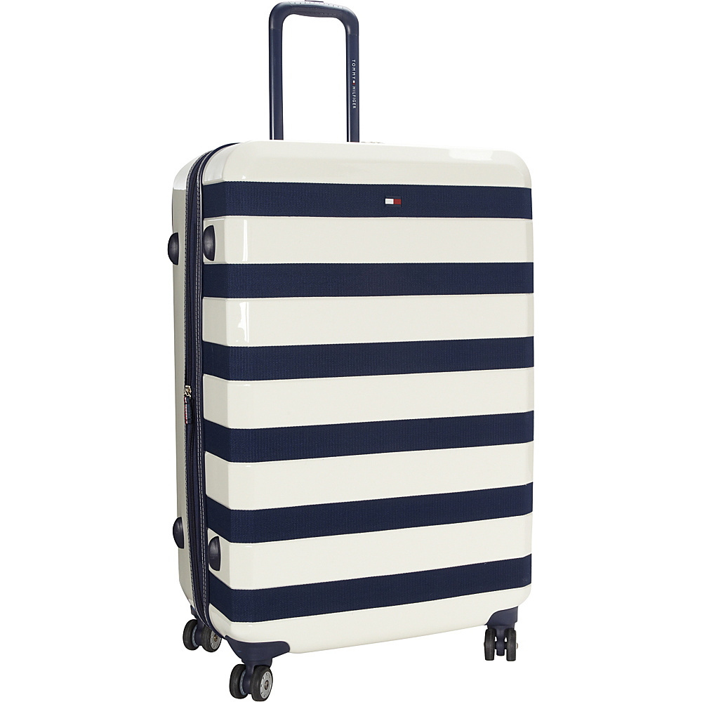 Tommy Hilfiger Luggage Rugby Stripe 28 Upright Hardside Spinner White Tommy Hilfiger Luggage Hardside Checked