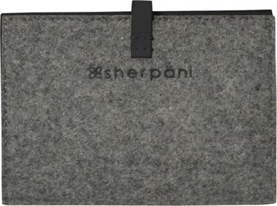 Sherpani Kingston Wool & Leather Passport Wallet Slate - Sherpani Travel Wallets